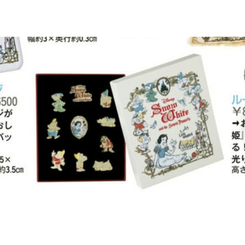 Pre-Order Disney Store JAPAN Pin 2021 Snow White & The 7 Dwarfs 10 Pics - k23japan -Tokyo Disney Shopper-