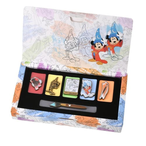 Pre-Order Disney Store JAPAN Pin Box 2020 Fantasia 80th Sorcerer Mickey 6 pic - k23japan -Tokyo Disney Shopper-