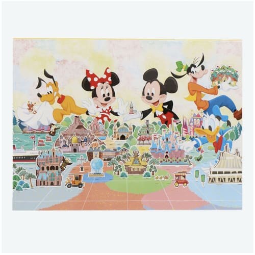 Pre-Order Tokyo Disney Resort 2021 Memo Set Box 10 Patterns Mickey Minnie - k23japan -Tokyo Disney Shopper-