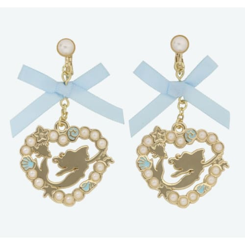 Pre-Order Tokyo Disney Resort 2021 Princess Earrings Set Ariel Ribbon - k23japan -Tokyo Disney Shopper-