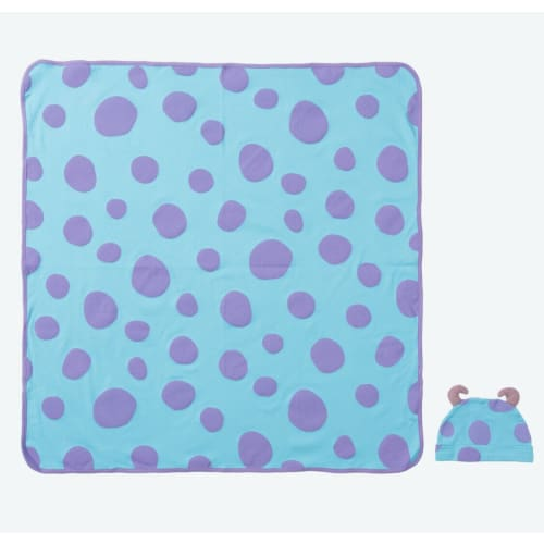 Pre-Order Tokyo Disney Resort Baby Swaddle with Hood Sulley Monstes Inc - k23japan -Tokyo Disney Shopper-
