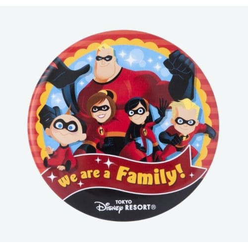 Pre-Order Tokyo Disney Resort Button We Are A Family! The Incredibles - K23Japan -Tokyo Disney Shopper-