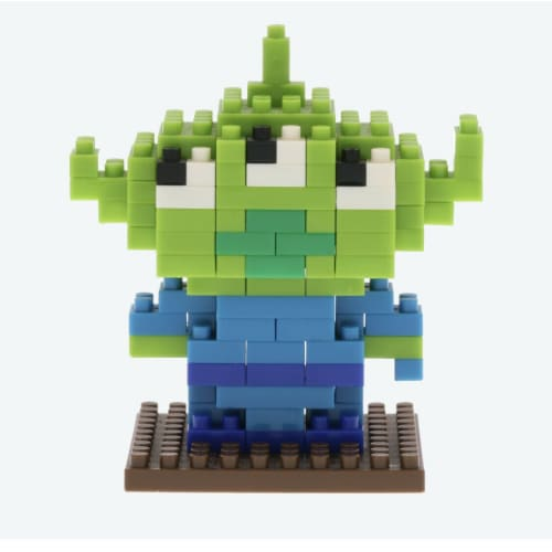 Pre-Order Tokyo Disney Resort Nano Block Alien Little Green Men From Toy Story - k23japan -Tokyo Disney Shopper-