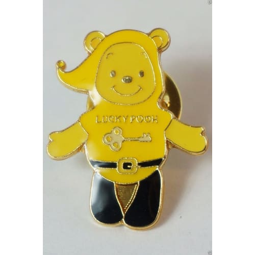 Rare! Disney Store Japan Pin Lucky Color Pooh Yellow Good Luck Lottery Jds - K23Japan -Tokyo Shopper-