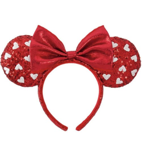 Tokyo Disney Resort 2020 Headband Spangle Red Heart Minnie - k23japan -Tokyo Disney Shopper-