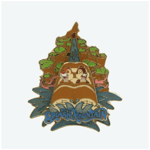 Tokyo Disney Resort Pin Attraction TDL Splash Mountain Chip & Dale - k23japan -Tokyo Disney Shopper-