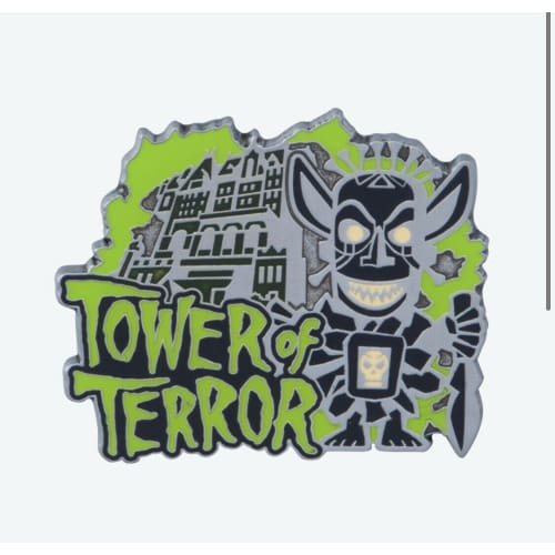 Tokyo Disney Resort Pin Attraction TDS Tower Of Terror Shiriki Utundu Glow - k23japan -Tokyo Disney Shopper-