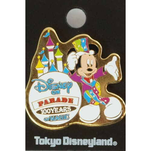 Tokyo Disney Resort Pin Land On Parade 100 Years Of Magic Mickey - K23Japan -Tokyo Shopper-
