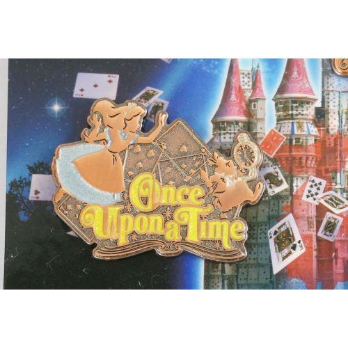 Tokyo Disney Resort Pin Once Upon A Time Each Sell Alice & White Rabbit - K23-Japan