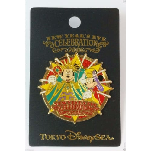 Tokyo Disney Resort Pin Tds New Years Eve Celebration 2006 Mickey Minnie - K23Japan -Tokyo Shopper-