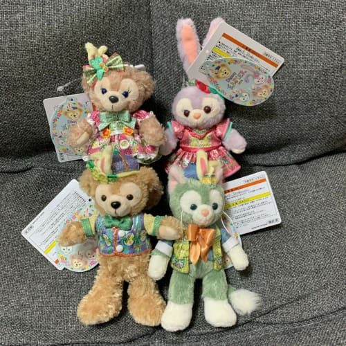Tokyo Disney Resort Disney SEA Duffy Friends Easter 2020 Plush Badge 4 Pics Set - k23japan -Tokyo Disney Shopper-