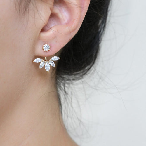Marquise Jacket Earrings