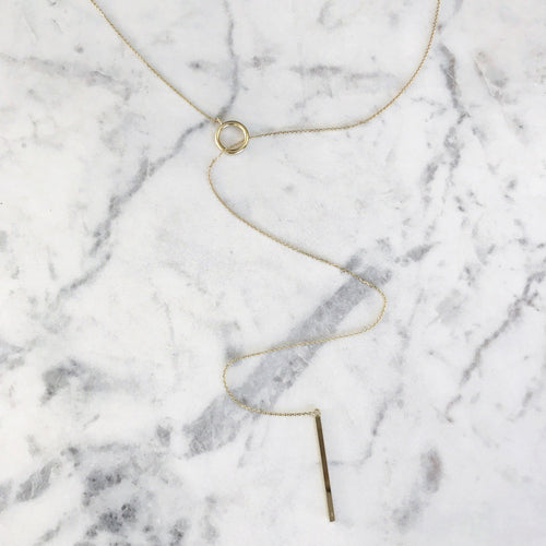 Circle Lariat - Sterling Silver