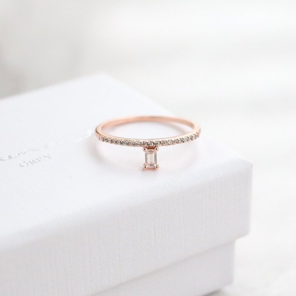 Emerald Ring - Rose Gold