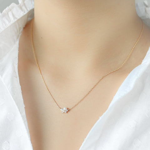 Grand Crystal Necklace -Sterling Silver