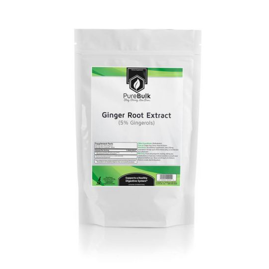 Ginger Root Extract Powder (5% Gingerols) - Bags / 50 grams