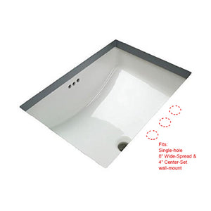 2014.011 White Rectangular Undercounter Sink