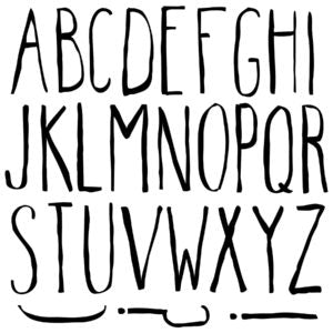 IOD Decor Stamp Farmhand Alphabet Set