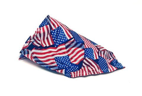 American Flag Cat Bandana