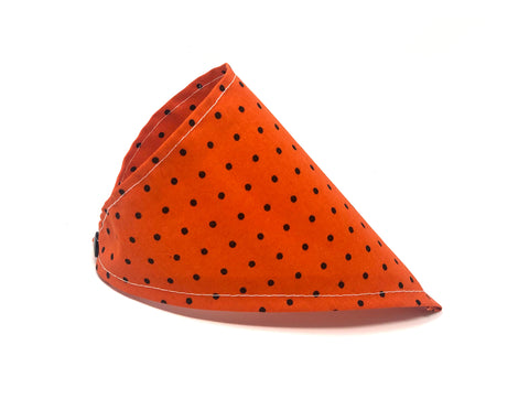 Halloween Cat Bandana — Orange with Black Polka