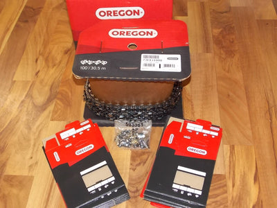 1- 73EXJ100U 100' roll NEW Oregon Full Skip PowerCut saw chain 3/8 .058 100 feet