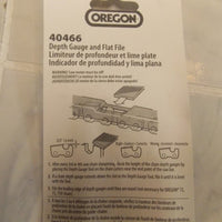 Oregon 40466 depth gauge  + file guide tool gauge for raker removal for chain +