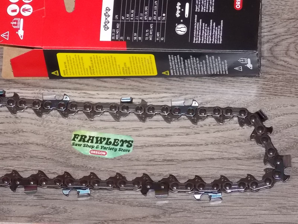 "75CK114G 36"" 3/8 pitch .063 114 DL Square ground Half Skip chisel chain"