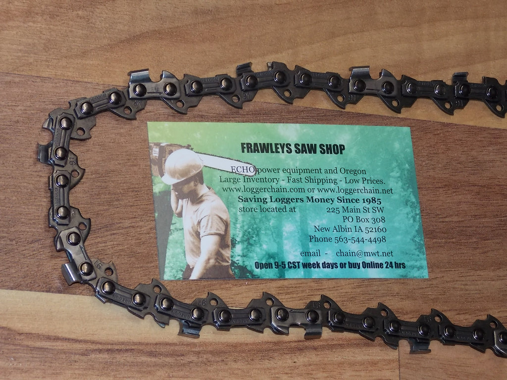 "S62 Oregon 18"" saw chain 3/8 Low profile pitch .050 gauge 62 Drive Links"