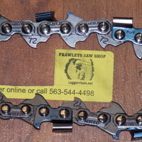 "M72DPX072 20"" 3/8 pitch .050 gauge 72 DL DuraCut HD saw chain"