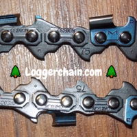 "M75DPX110 34"" 3/8 pitch .063 gauge 110 DL Semi chisel DuraCut chain"
