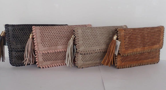 Diamond Cutwork Clutch