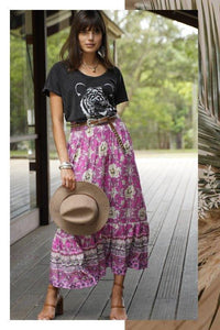 Fuschia Maxi Skirt