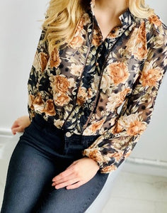 Noelle Floral Button Blouse