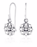 Mandala Flower Long Earrings