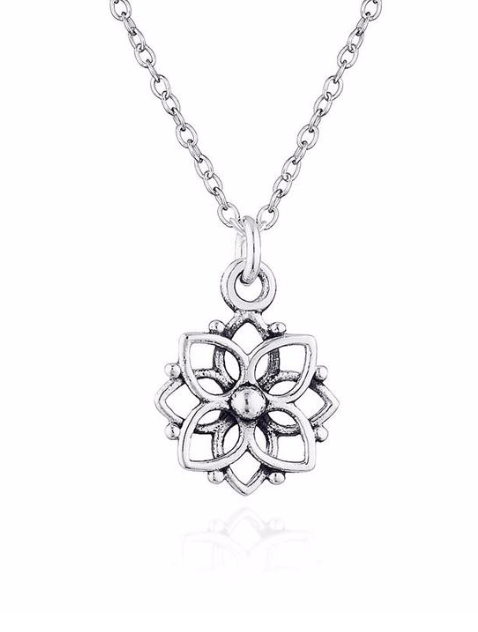 Mandala Flower Necklace