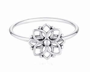 Mandala Flower Ring
