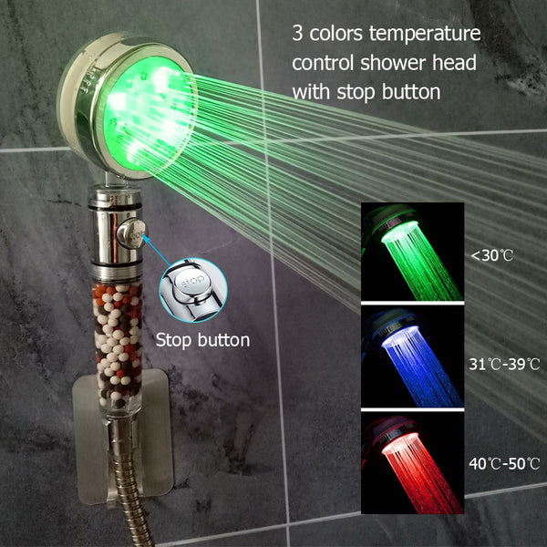 Color Changing And Purifying Shower Head