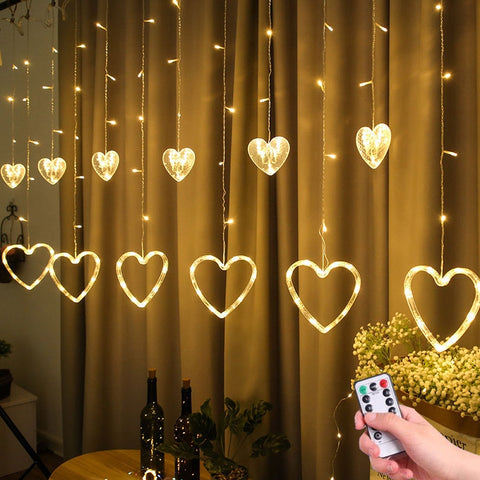 Heart Shaped Curtain Light