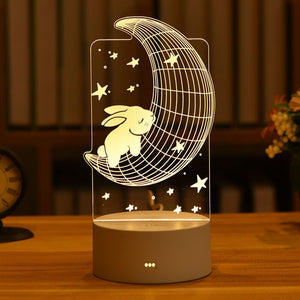 3D Night Light USB