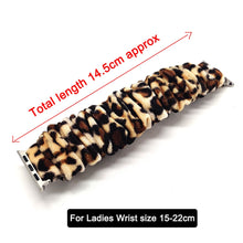 Load image into Gallery viewer, Scrunchie Elastic Watch Straps Watchband for Apple Watch Band Series 6 5 4 3 38mm 40mm 42mm 44mm for iwatch Strap Bracelet 6 5 4