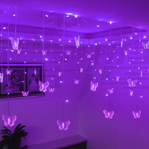 Butterfly LED Curtain Lights