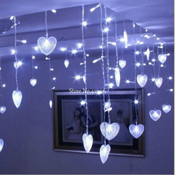 Hearts LED Curtain Lights
