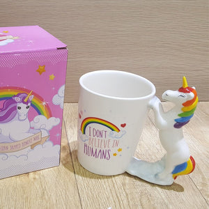OUSSIRRO Animal unicorn ceramic mug creative 3d animal handle coffee cup milk cup