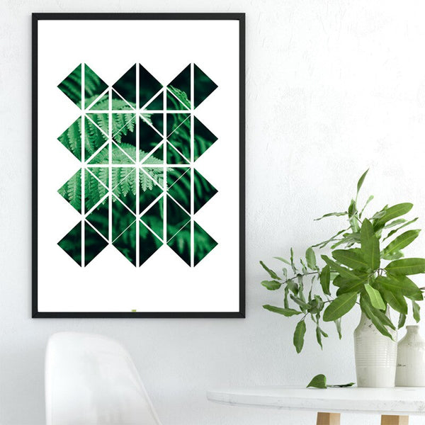 Nordic Poster Abstract painting Green Leaf Plants Poster Black Letter Now Canvas Painting Cuadros Wall Art Decorations Unframed