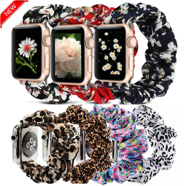 Scrunchie Elastic Watch Straps Watchband for Apple Watch Band Series 6 5 4 3 38mm 40mm 42mm 44mm for iwatch Strap Bracelet 6 5 4