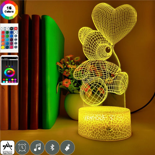 Teddy Bear Nightlight with Phone App