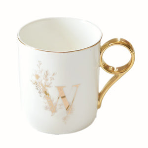 Gold Handle Couple Mug