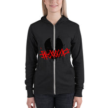 Load image into Gallery viewer, Unisex zip hoodie trauma mask