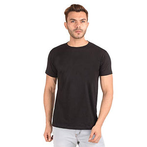 Ribbons and Mustache Cotton Solid/Plain T-Shirt for Men - Ribbons and Mustache