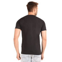 Load image into Gallery viewer, Black Half Sleeve T-Shirt - Ribbons and Mustache